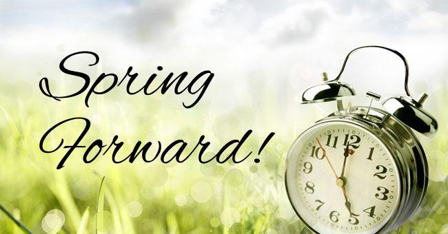 Alarm clock in spring field